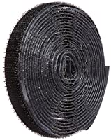 "VELCRO 1001-AP-PSA/H Black Hook Type Nylon Woven Fastening Tape, Pressure Sensitive Adhesive Back, 1/2"" Wide, 10' Length"