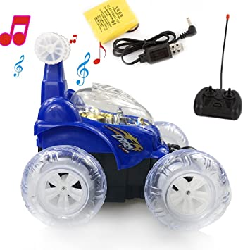 Invincible Tornado - Remote Control Invincible Turbo Twister 360 Degree Spinning and Flips Rechargeable RC Stunt