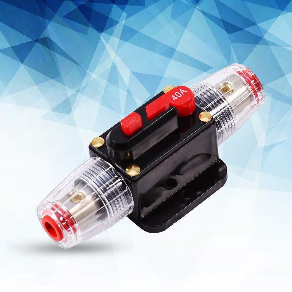 portafusibles para protecci/ón del sistema de inversor solar de audio para autom/óvil Disyuntor para autom/óvil disyuntor de 12V DC 40A