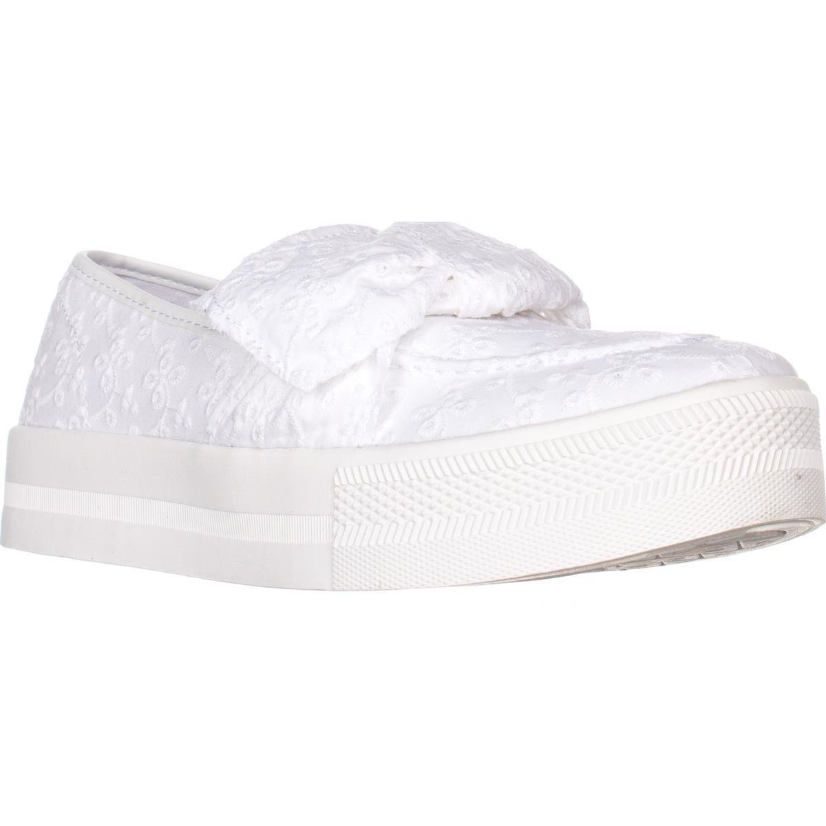 17392c2f24aec G By Guess Womens Chippy Fabric Low Top Slip On Fashion, White, Size ...