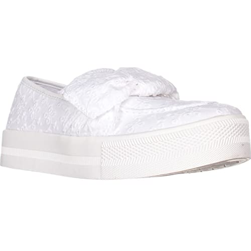 1e564a1e033e2 G by GUESS Womens Chippy Fabric Low Top Slip On Fashion, White, Size ...