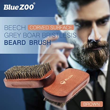 ErYao Bluezoo - Cepillo para Barba (cerdas Naturales de ...