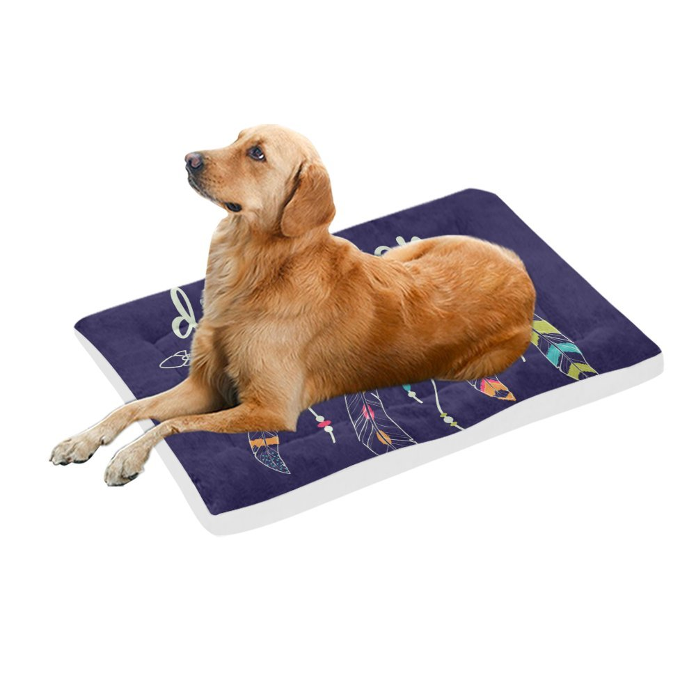 42\ your-fantasia Ethnic Arrows and Feathers Pet Bed Dog Bed Pet Pad 42 x 26 inches