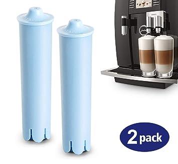 2 x Filtro de agua Filtro Claris Blue para máquinas de café Jura Lemon filtro Cartuchos de filtro carbón activo Mejora el sabor: Amazon.es: Hogar