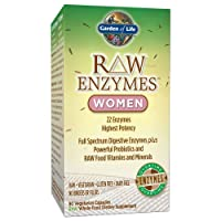 Garden of Life Vegetarian Digestive Supplement for Women - Raw Enzymes for Digestion...