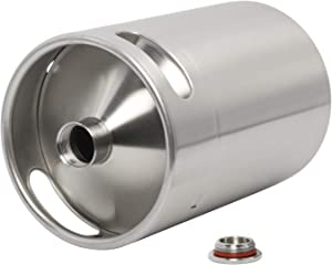 5L 170 Oz Beer Keg Growler,Stainless Steel Big Beer Bottle Craft Beer Barrel for Camping Hiking Homebrewing