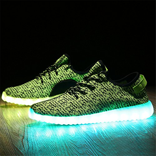 Socone Light Up Ricarica Usb Led Da Donna E Da Uomo Scarpe Da Ginnastica Lampeggianti Sneakers Verdi