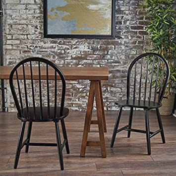 Christopher Knight Home 302241 Declan Dining Chairs Set of 2 Black