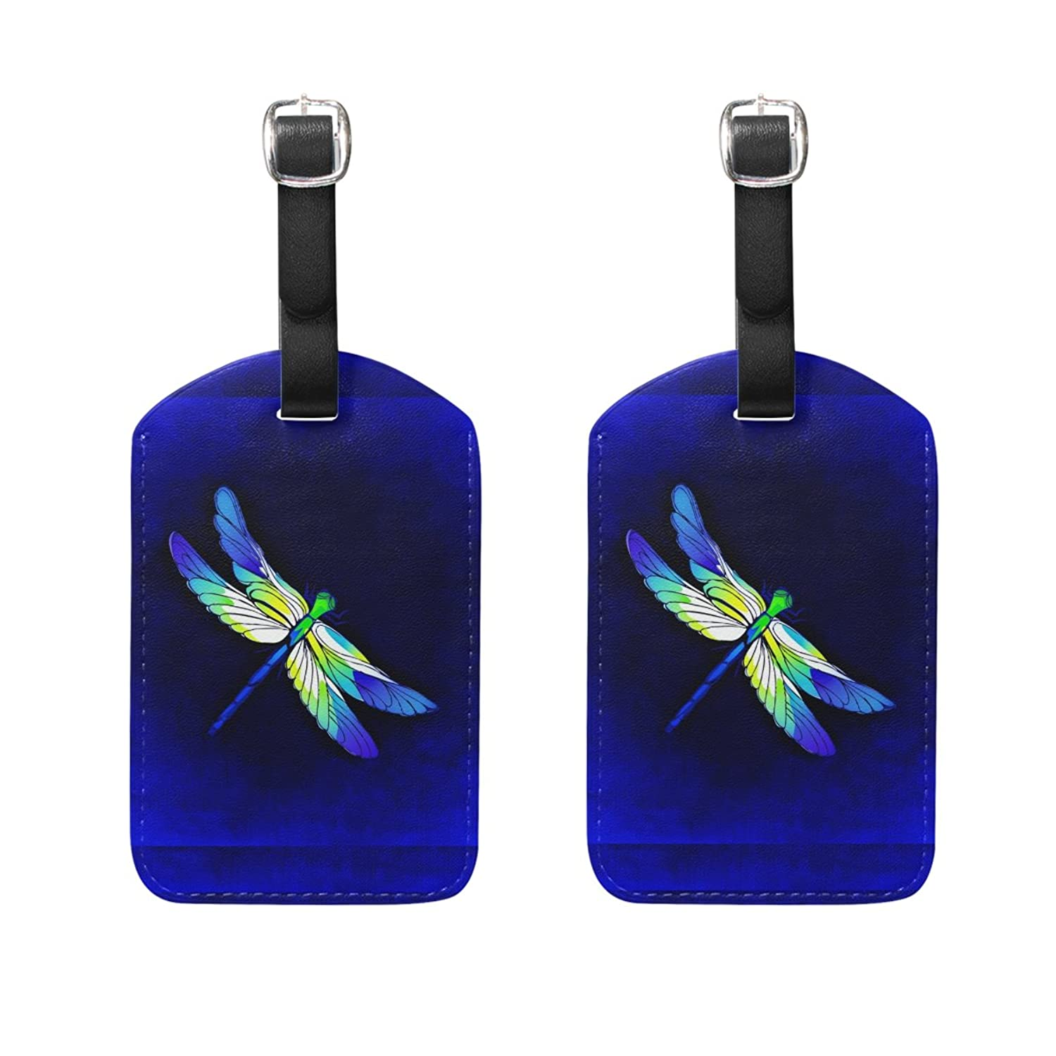 Amazon.com | AHOMY Dragonfly PU Leather Tags Business Card Holder ...