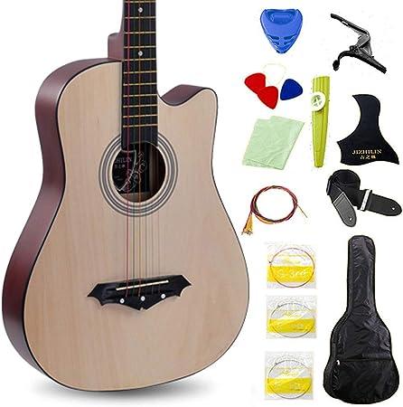 MSHK Guitarra Clásica (96 Cm), Paquete De Guitarra Acústica Clásica De Estilo Español con Cuerdas De Acero Paquete De Guitarra Acústica Natural,B: Amazon.es: Hogar