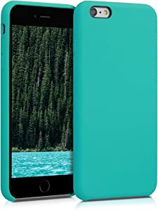kwmobile TPU Silicone Case for Apple iPhone 6 Plus / 6S Plus - Slim Protective Phone Cover with Soft Finish - Turquoise