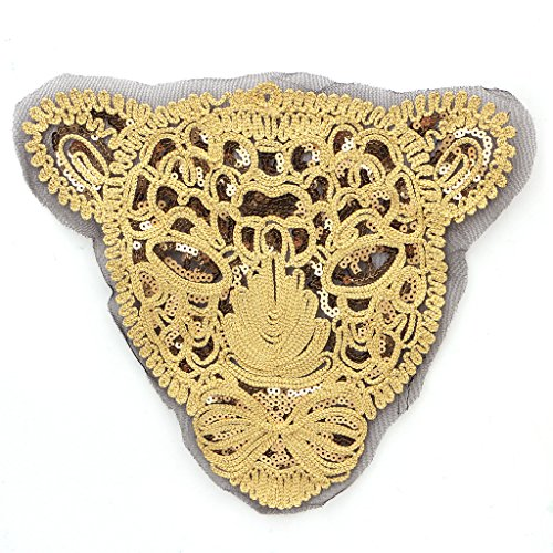 Hunulu Embroidered Sequins Applique Sew/Iron On Patch Sewing Costume Decor Craft (Gold (Best Halloween Costumes Tumblr)