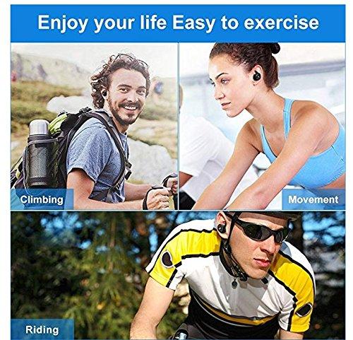 Mbuynow Auricular Bluetooth, Auriculares inalámbricos Auriculares Impermeable Auriculares del Coche con Micrófono con Cargador Portátil para iPhone y Android Smartphone