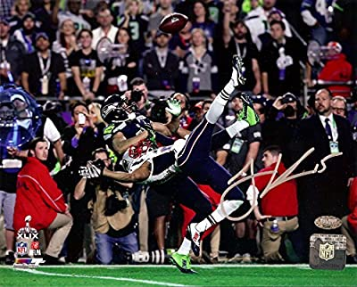 Jermaine Kearse Autographed 8x10 Photo Seattle Seahawks Super Bowl XLIX MCS Holo Stock #106269