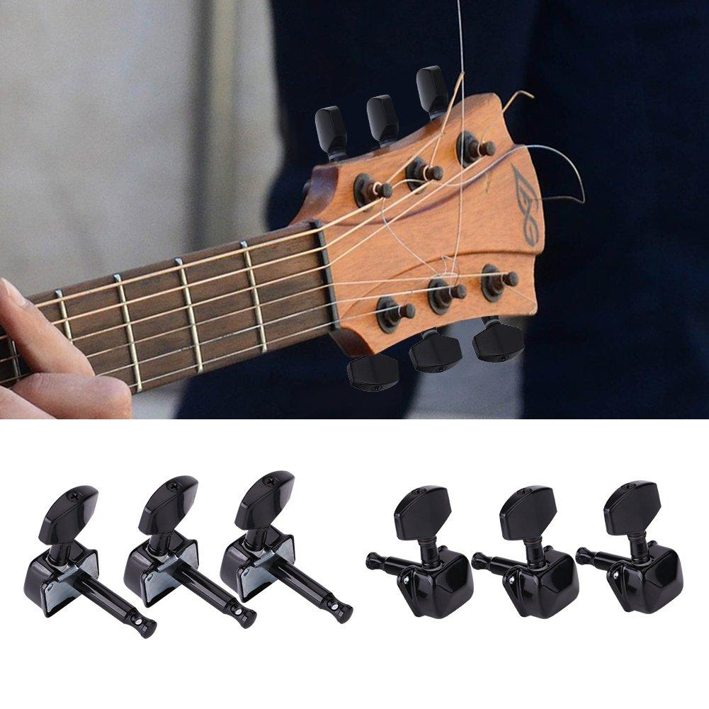 3R 3L Semiclosed Metal Machine Heads String Tuning Key Pegs Tuners for Folk Guitar 6Pcs Guitar Pegs