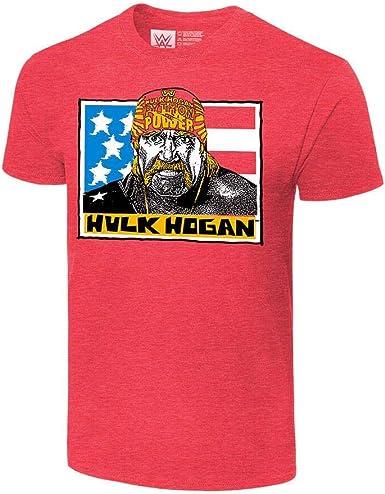 Les jeunes garçons WWE Catcheur HULK HOGAN Hulkamania T-shirt rouge