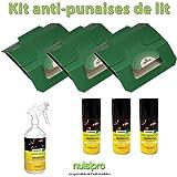 Kit complet NUISIPRO - Traitement insecticide contre les punaises de lit, action choc + préventive,