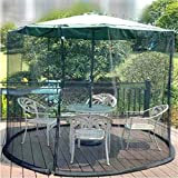 OriginA Mosquito Netting Patio Outdoor Umbrella Anti Insect Net for Patio Tables, military green, 9ft