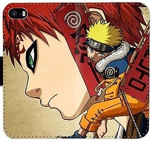 Caja del cuero de Naruto Gaara Naruto Sasuke K3S7Y Funda iPhone 5C funda NkjhcX Genérico de teléfono funda del caso del tirón para los muchachos