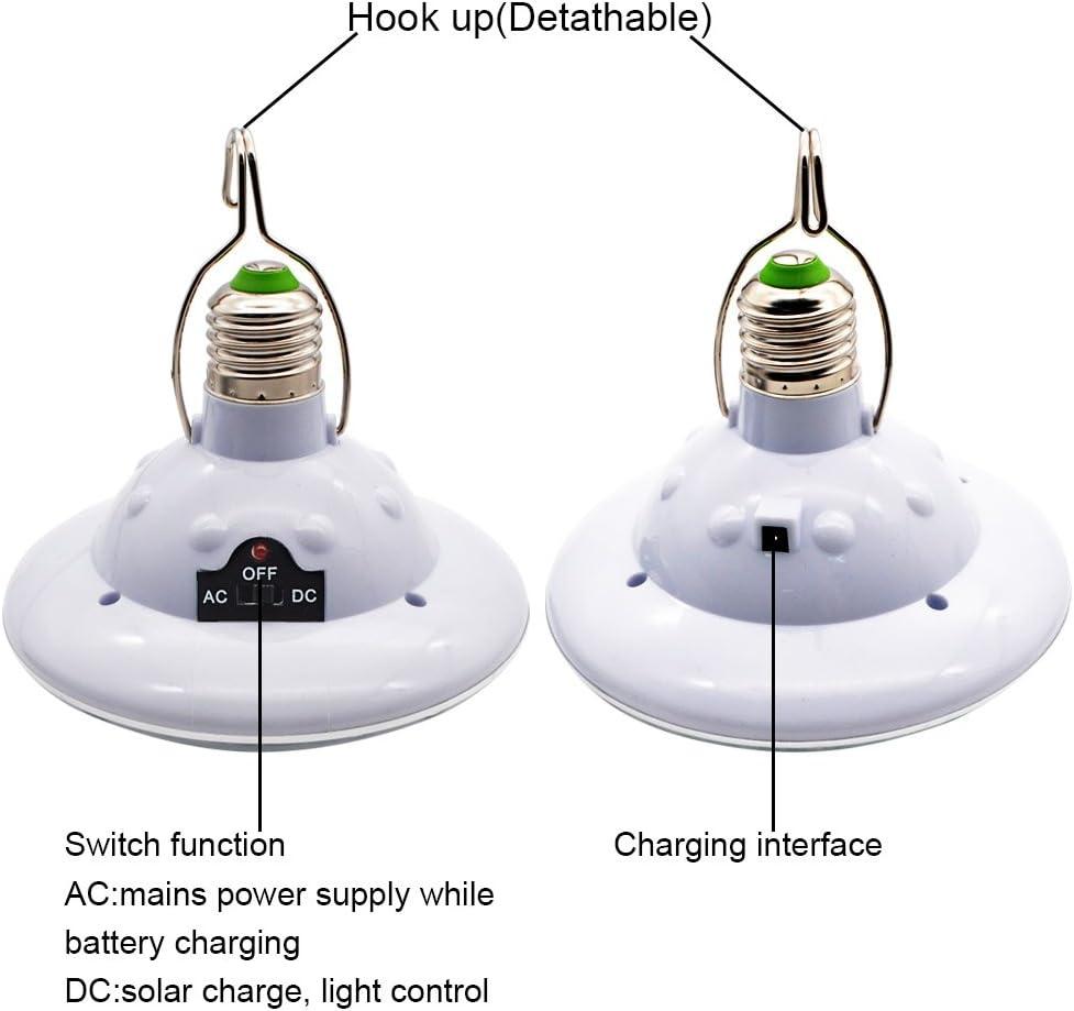 illuminazione 20 lampadine a LED. per esterni con pannello solare pesca GreeSuit campeggio Lampada a LED ad energia solare escursionismo portatile