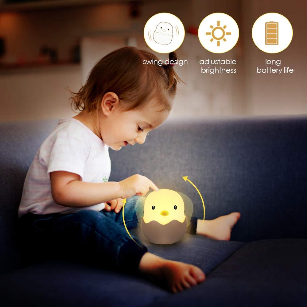 solawill Veilleuse de Nuit Coquille doeuf Poulet Emotion Lumi/ère de Nuit USB Rechargeable Veilleuse Lampe Pour Chanbre dEnfant Veilleuse de B/éb/é