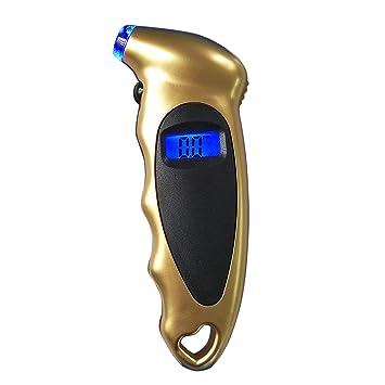 Digital Medidor de Presión de Manómetro,GZQES,Digital Manómetro para Control de Presión de Neumáticos,Manómetro Presión Ruedas 0-150 PSI (Oro): Amazon.es: ...