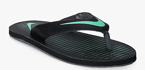 069c2d675843 Nike Men s Chroma 5 Blk Electro Grn-Dark Gry Flip Flops Thong Sandals-