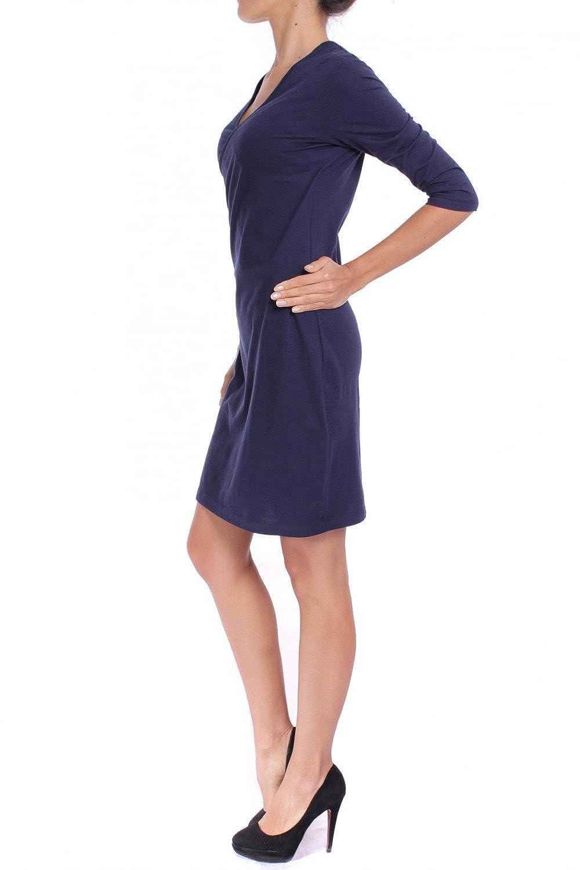 ANTA Q'ULQI - Women's Jersey 3/4 Sleeve Wrap Over Dress 100% Organic Tanguis Cotton
