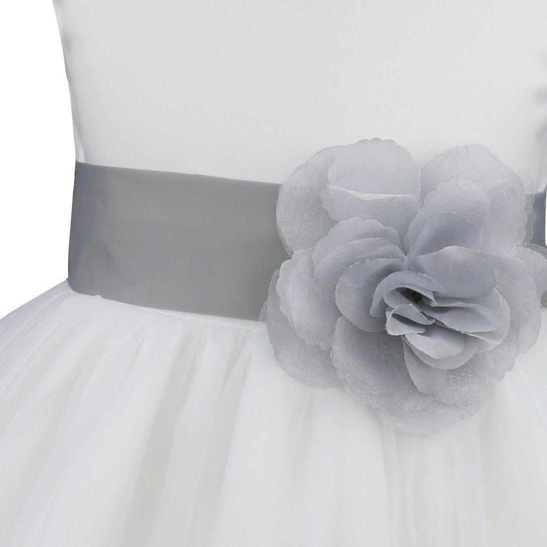 9287baddabd4 Flower Girls Dresses Tulle Wedding Pageant Bridesmaid Christening ...