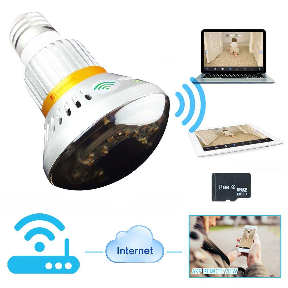 Ampoule Tekmagic avec lumière intégrée et caméra de surveillance