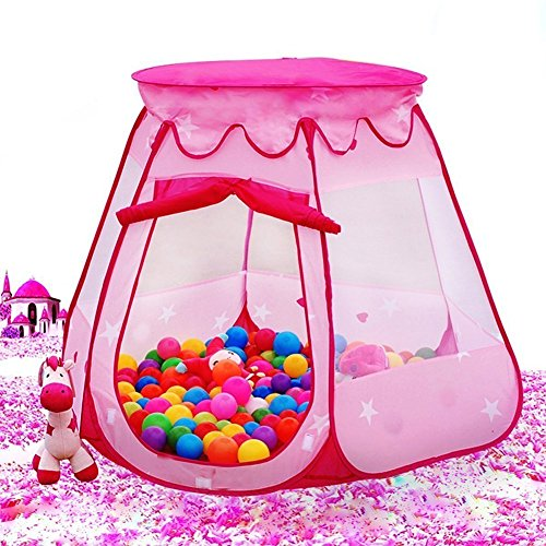 Folding Princess Ball Pit Tent For Girls Indoor And