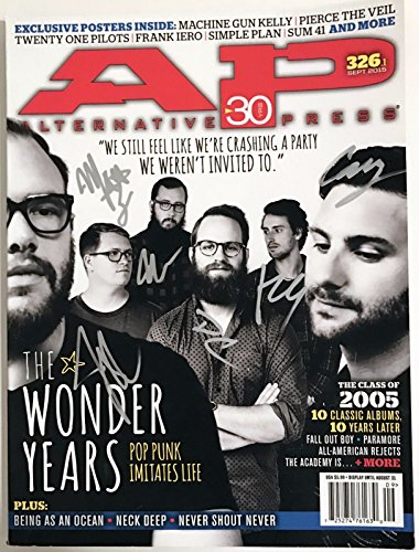 The Wonder Years band REAL SIGNED Alternative Press Magazine #1 Campbell COA by Loa_Autographs