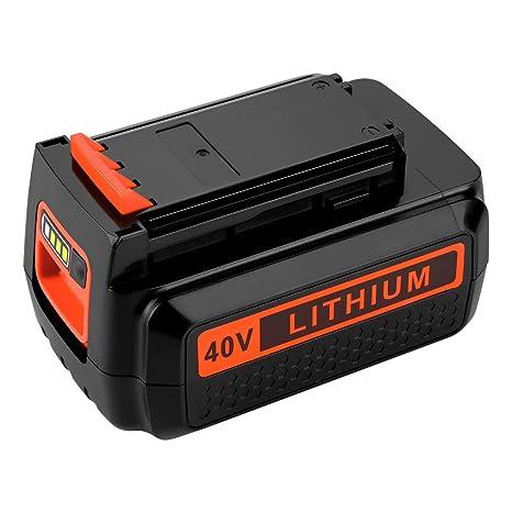 46cec894c7 Powilling 40 Volt MAX 2.2Ah Lithium Replacement Battery for Black and Decker  40V Battery LBX2040