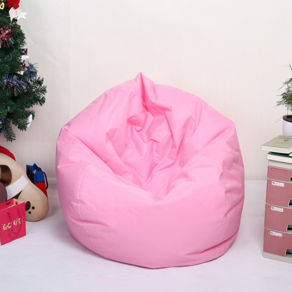 Blesiya Waterproof Kids Bean Bag Toy Storage Cover Chair Soft Toy Bag Home Organizer 11 Colors Available - Pink