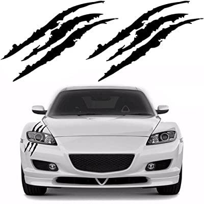 YGMONER 2PCS Claw Marks Decal Reflective Sticker for Car Headlamp (Black): Arts, Crafts & Sewing