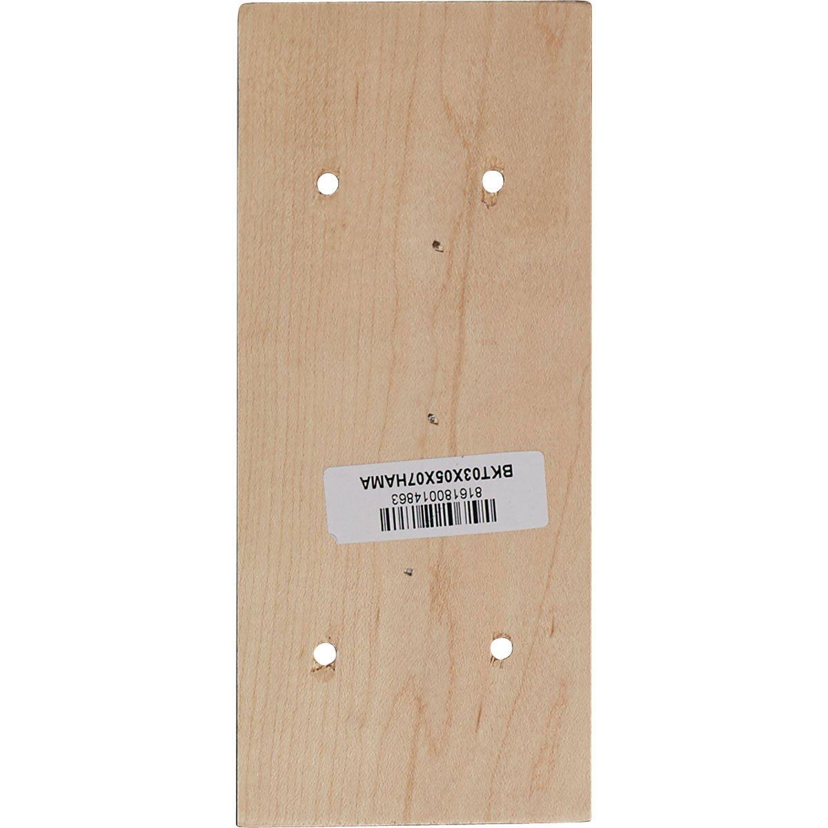 Rubberwood Ekena Millwork BKT02X05X07HARW-CASE-4 2 1//4W x 5D x 7H Hamilton Traditional Bracket , 4-Pack