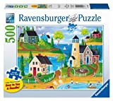 Ravensburger Summer by The Sea Jigsaw Puzzle, Large Format, 500-Piece