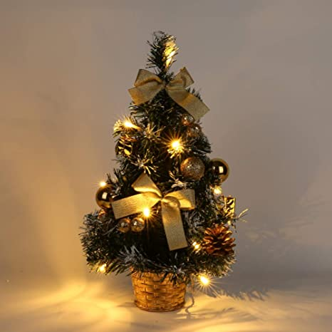 Christmas Desktop Pictures.Wingbind Small Christmas Tree With Lights Mini Desktop Decoration Xmas Tree For Home Office Shopping Bar Photo Shoot