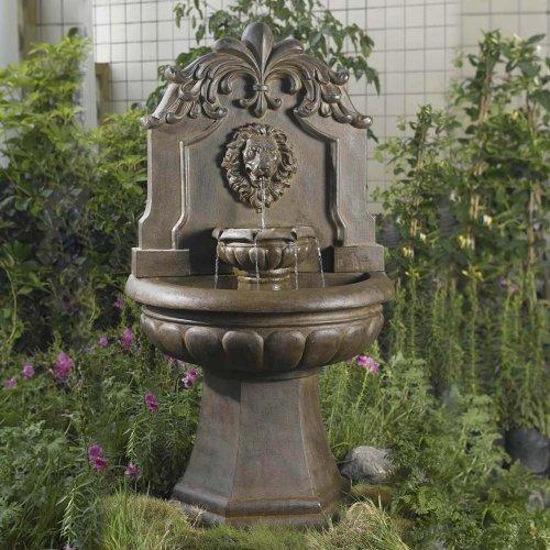 (Jeco Inc. Copper Lion Head Outdoor/Indoor Water Fountain)