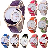 Yunanwa 10-Pack Wholesales Women's Leather Watch Quicksand Bracelet Ladies Dress