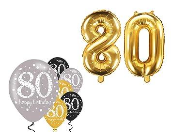 Fija celebran Cumpleaños Decoración para 80 cumpleaños I 8 ...