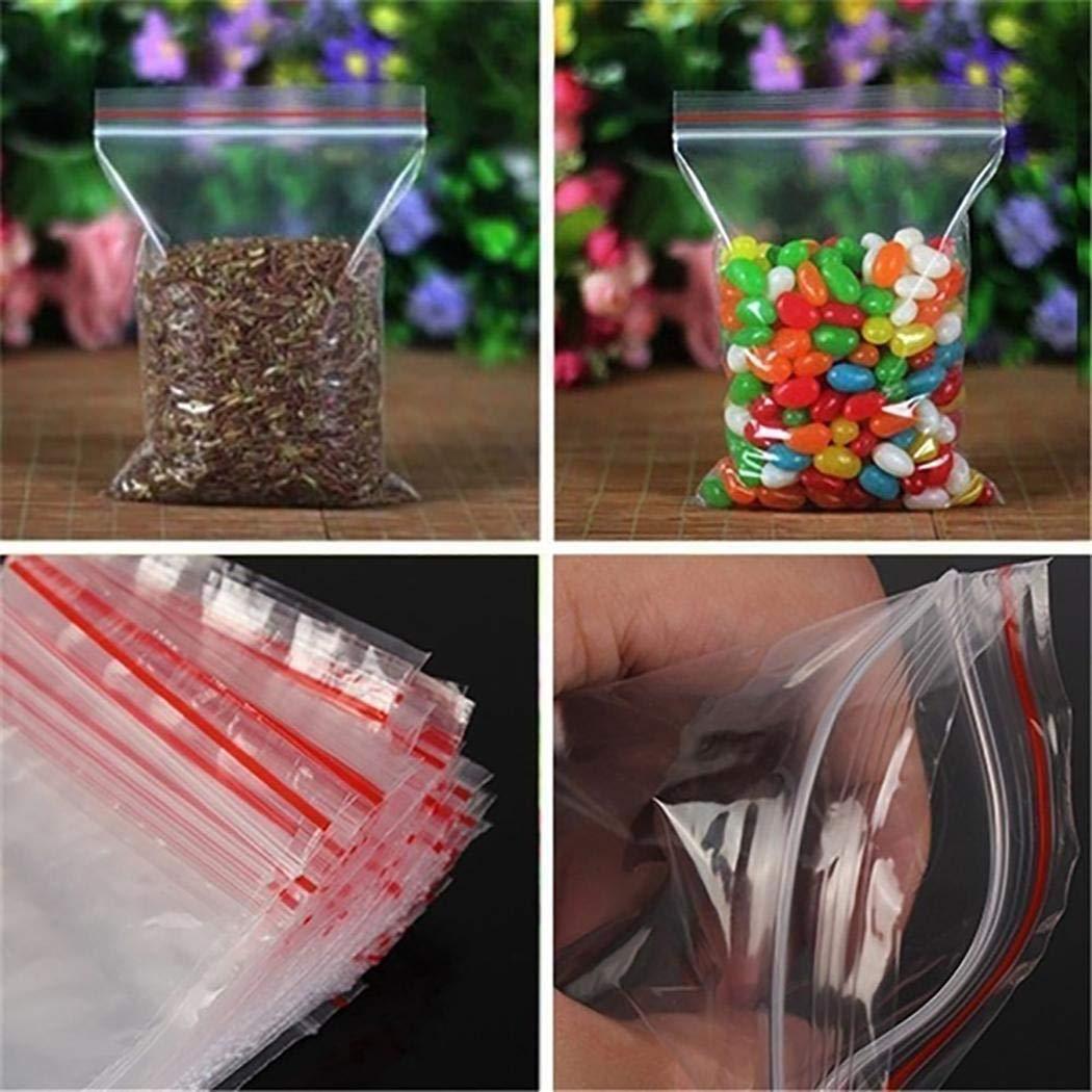 MelysEU Robuster praktischer transparenter mit Reißverschluss versiegelter Aufbewahrungsbeutel für Lebensmittel Kuchen- & Tortenplatten