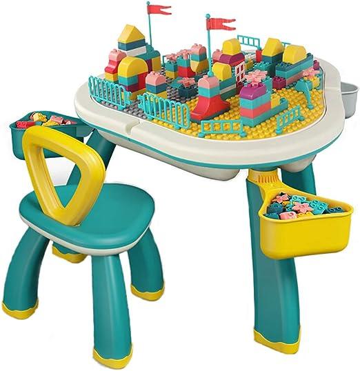 HGFDSA Mesa De Bloques De Construcción, Mesa De Juego De Plástico Ensamblada Mesa De Estudio Mesa De Comedor Adecuado para Niños Y Niñas De 3 a 10 Años: Amazon.es: Hogar