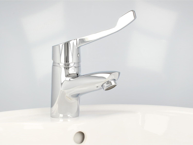 Wasserhahn Griff Hebel Ersatz WC Chrom Waschtisch Medizinischer NEU