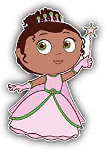 Super Why Cartoon Princess Presto Vinyl Sticker Bumper Decal - Longer Side 14''