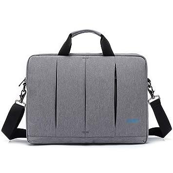 Color : Black, Size : 15.6inch GUODLIN Black and Grey Computer Bag Nylon Material Business Handbag 15.6 Inch