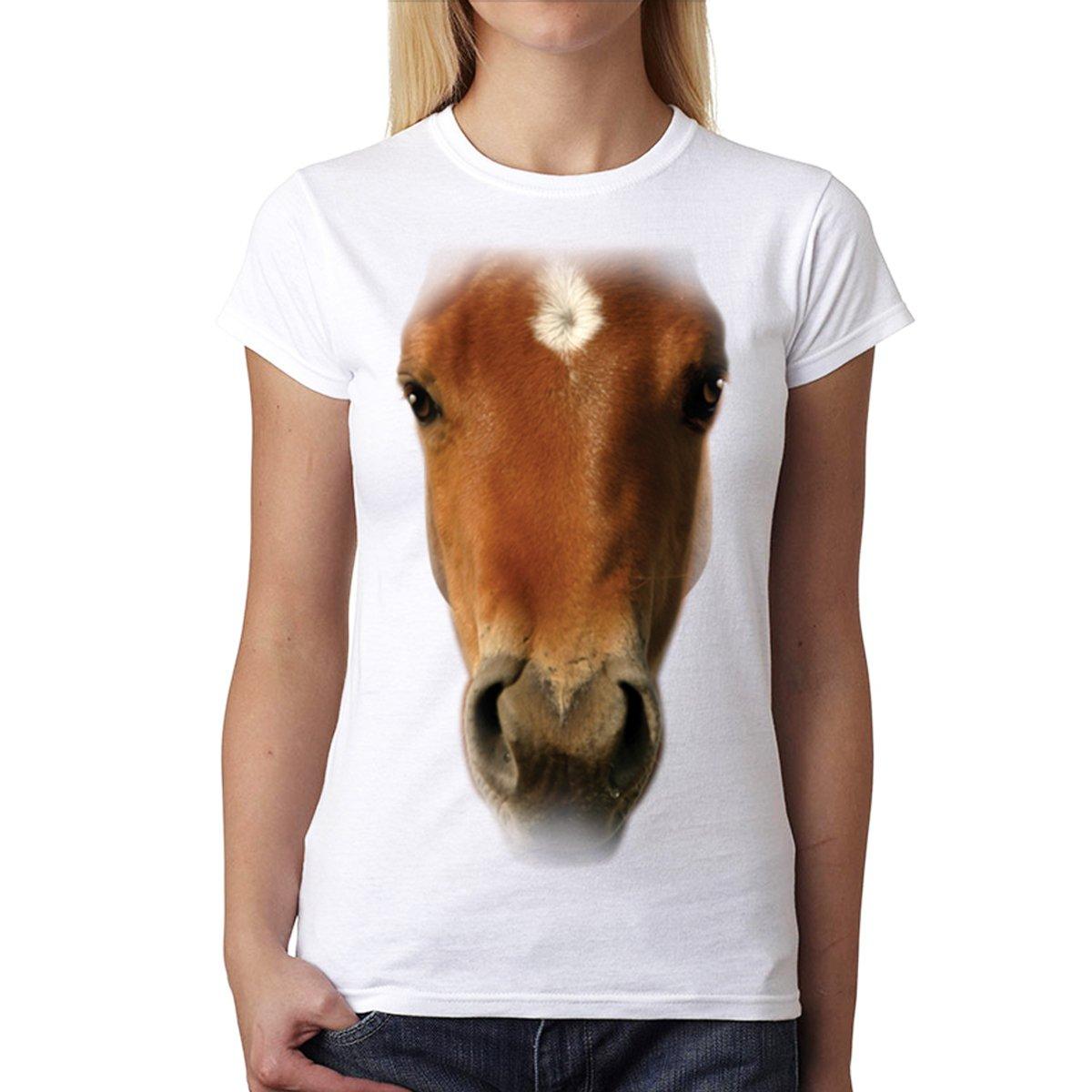 Horse Face Animals Women T-shirt S-2XL New AvocadoWear 3889