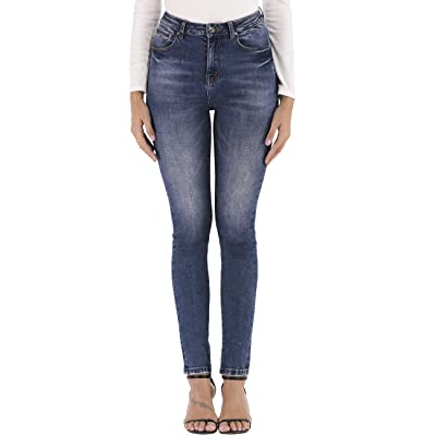 LOLO BLUES Women's High Waist Shaping Stretch Super Skinny Jeans at Women's Jeans store