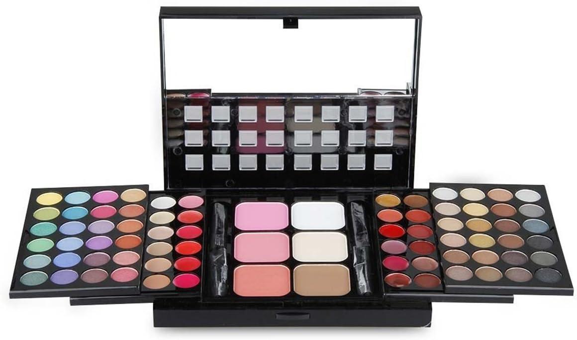 BrilliantDay 78 color paleta de sombra de ojos Blush Corrector Kit Belleza brillo de labios maquillaje Set