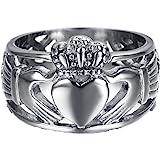 Celtic - Celtique Claddagh Coeur Couronne Amour - Fiançailles Mariage ...